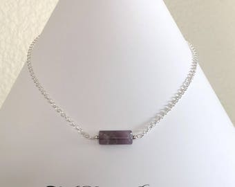 February's Birthstone - Amethyst and Sterling Silver