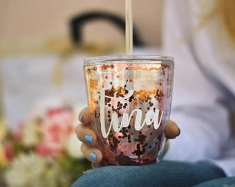 Personalized Tumbler ~ Bachelorette Party Cups ~ Bridesmaid Proposal ~ Maid of Honor Gift ~ Christmas Gift for Her (L2) (BR054) / PB04