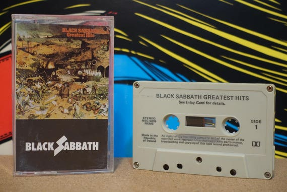 Greatest Hits by Black Sabbath Vintage Cassette Tape