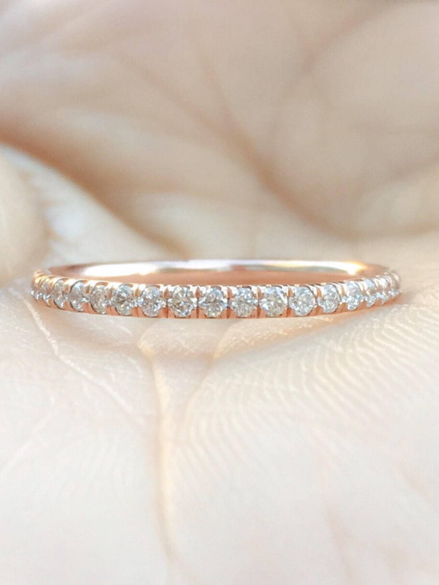 rose bands jewelry band products infinity mavrik diamond dainty gold