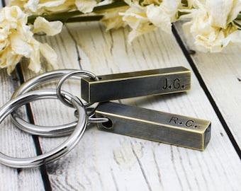 Personalized Groomsmen Keychain - Custom Men's Keychain - Personalized Keychain for Men - Groomsmen Gift - Bar Keychain - Bridal Party Gifts