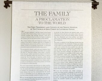 Family Proclamation Wall Hanging Muslin Tapestry