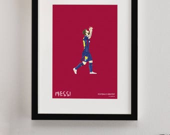 FC Barcelona, Lionel Messi Print, Camp Nou Print, FCB, FC Barcelona Gifts, Football Art, Gift for Men, Football Gifts, Football Posters
