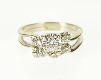 14k 0.30 Ctw Diamond Engagement Wedding Band Set Ring Gold