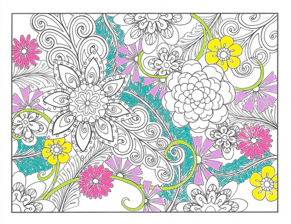 Printable Coloring PageZentangle