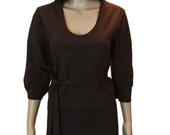 dress dark brown shine