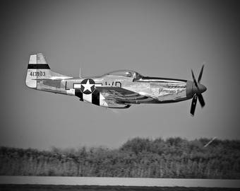 P-51 Mustang in Flight Fine Art Print