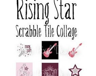 INSTANT DOWNLOAD - Rising Star M2MG Scrabble Tile Collage Sheet