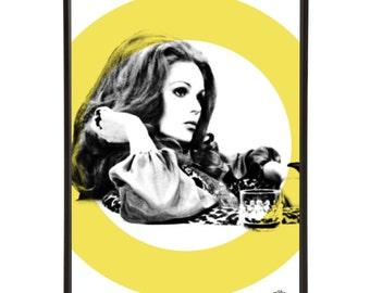 Piz Gloria - Pop art portrait of Joanna Lumley, the absolutely fabulous model Bond-Girl and Avenger