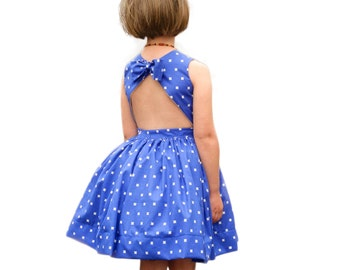Child Dress PDF Sewing Pattern, The Appelstroop Dress Sized 18mo to 12y