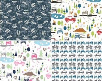 J is for JEEP Cotton Fabric by Riley Blake! [Choose Your Cut Size]