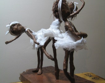 First Time on Stage. Little Ballerinas. Sculpture of ballerinas. Made to order