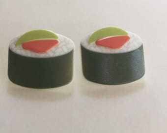 Mix and Match Collection Matching Set Sushi Button Earrings choose post or dangle