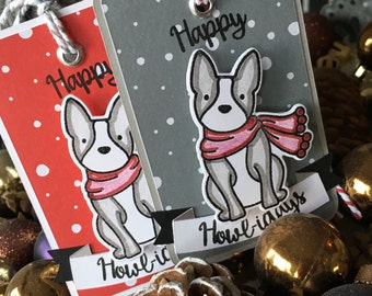 Happy Howlidays Gift Tags Set