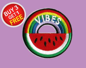 Watermelon Patches Vibes Patch Iron On Embroidered Patches