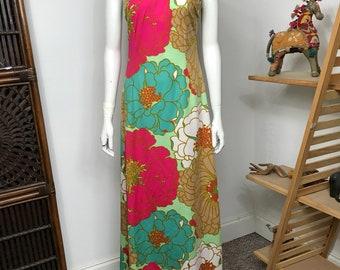 Don Luis de Espana floral halter maxi dress gown