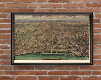 Chicago, Illinois - 1916 Panoramic Map