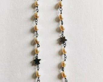 Long Fresh water pearl Earrings