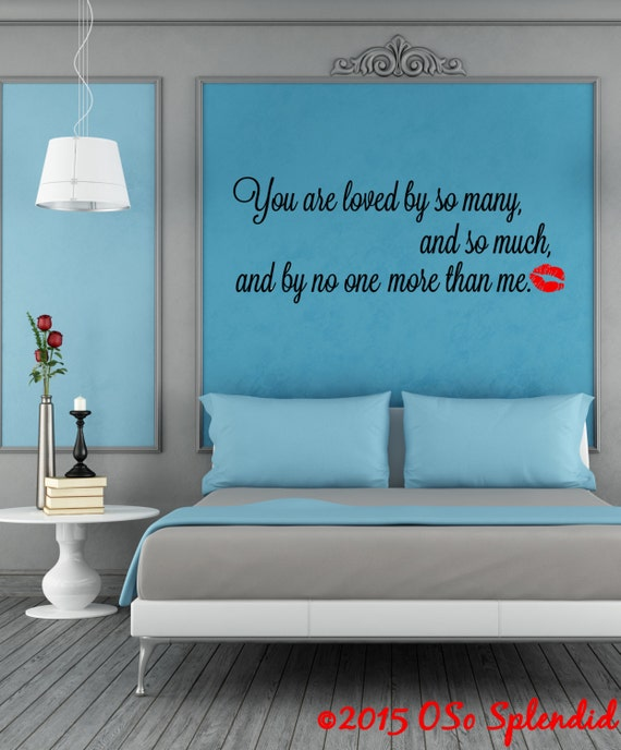& Doctor Who Inspired Wall Decal You are loved by so many
