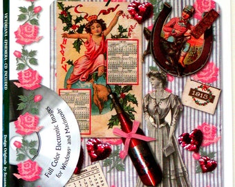 2004 VINTAGE EPHEMERA Book & CD #5242 Over 150 Victorian Images Suzanne McNeill Design Originals Collage Scrapbooking Artwork Cards Tags