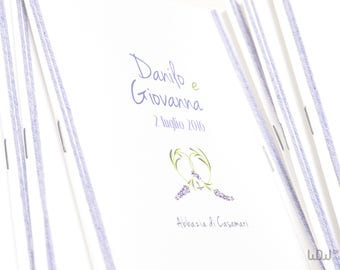 Booklet church_Custom_Lavender Theme_Lavender Wedding_Handmade in Italy