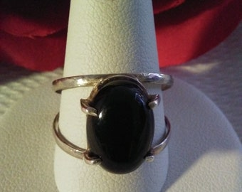 Handmade Ring Sterling .925 and Black  Onix Stone