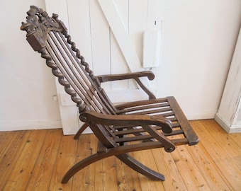 Armchair folding Chairs Antique Hoz Folding Chair founder time
