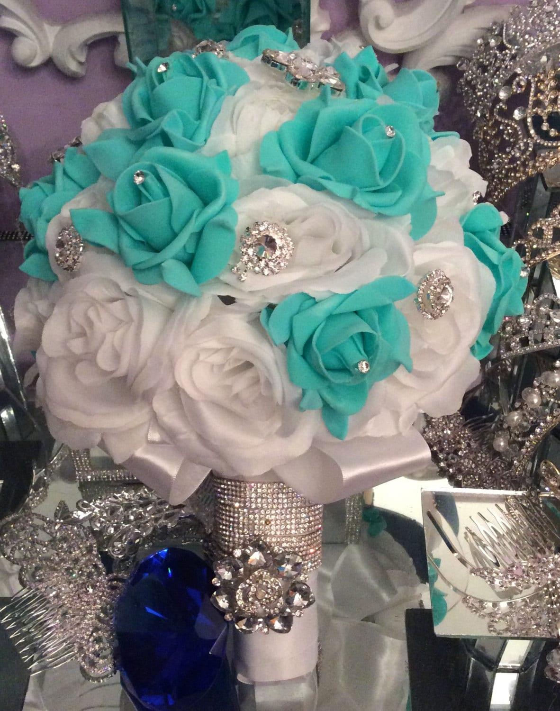 Quinceanera Bouquet White/ mint Quinceanera Bouquet.