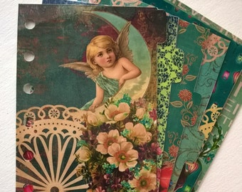 Vintage Angels: Set of 6 dividers for Filofax style organisers