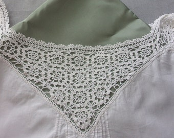 Old shirt, lace from Ireland to shabby decor