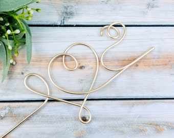 Initial cake topper   Wedding cake topper   Wire cake topper   Wedding Decor   Cake Topper   Rustic Wedding Decor   Personalized Cake Topper