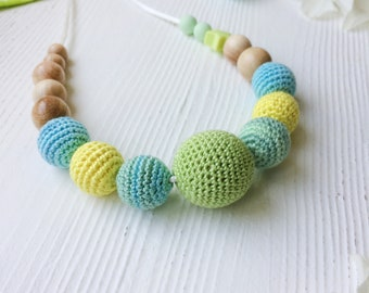 Nursing necklace Baby shower gift Feeding necklace for mom and Chewing baby toy Teething necklace Breastfeeding necklace for mom chewelry