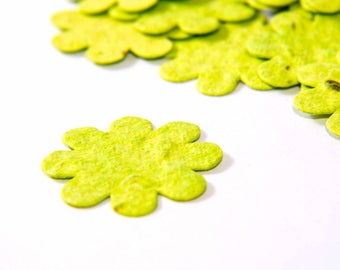 200 Lime Green Plantable Seed Paper Flowers Birthday Party Favors Baby Shower Favor DIY Invitations Eco Party Favor Decorations
