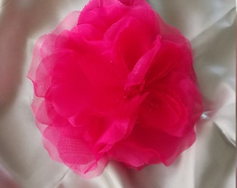 Bright fuschia pink silk flower