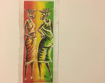 African Women Painting