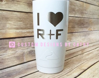 I love rf etsy i love rf rodan and fields powder coated stainless tumbler yeti hogg altavistaventures Image collections