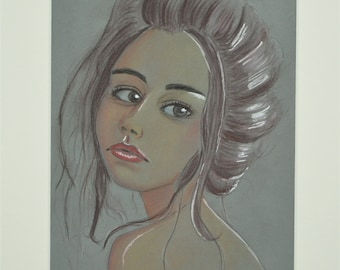 An original pastel painting size A4 mounted and backed