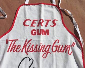 The Vintage Cotton Certs Kissing Gum White Apron