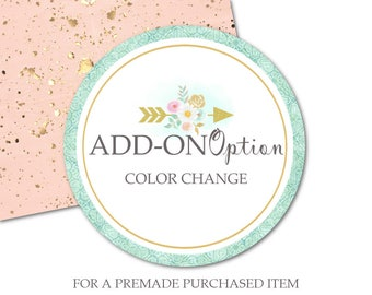 Add On Color Change to Change Colors to Previously Purchased Item in the shop-Purchase Listing for a Color Change to any Premade Set