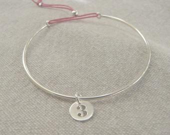 "Silver bracelet minimalist simple freshwater ""figure"""
