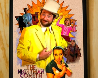 The Nightman Cometh - Charlie Kelly - Its Always Sunny in Philadelphia - Wall Art - Color Pencil Portrait Poster Print