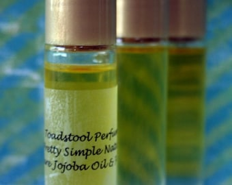Perfume Samhain Night Perfume Oil  Pure Golden Certified Organic  Jojoba Oil Body Oil Roll On
