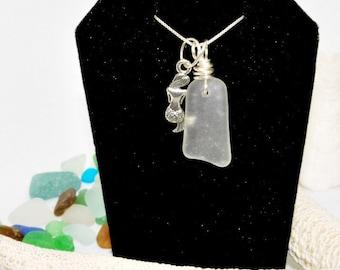 Beach Jewelry, Mermaid Necklace, Lake Erie Beach Glass, Beach Gift, Gift For Mom, Beach Glass, Statement Necklace, Beach