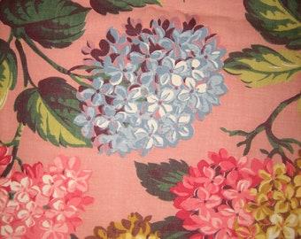 stunning vintage hydrangea drapery panel