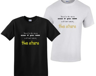 Shoot for the moon slogan T-shirt