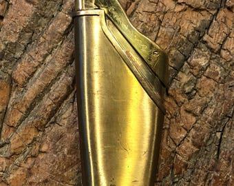 Vintage brass Crown Harp cigarette lighter made in Japan