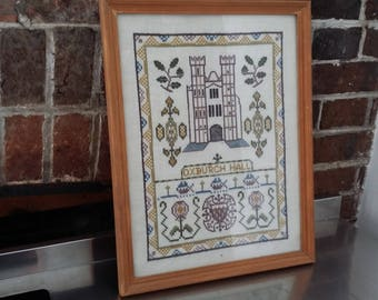Vintage Sampler / Tapestry Oxburgh Hall Historic Building
