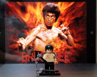 Bruce Lee Inspired Minifigure Enter the Dragon Building Block Toy