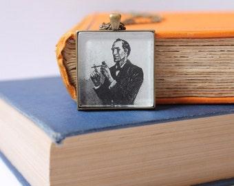 Sherlock Holmes jewelry - Arthur Conan Doyle gift idea for teacher - bookish jewellery - Sherlocked necklace