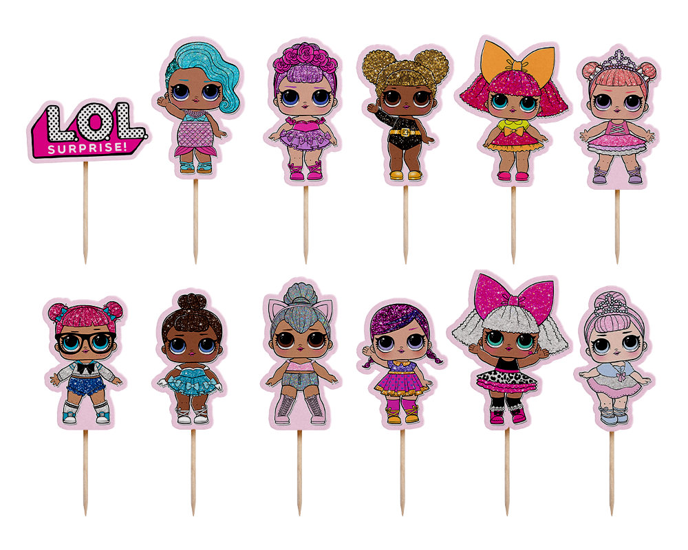 LOL Surprise Doll Cupcake Toppers